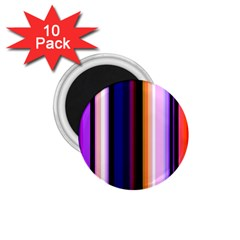 Fun Striped Background Design Pattern 1 75  Magnets (10 Pack)