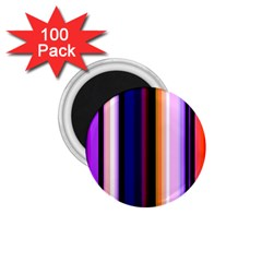 Fun Striped Background Design Pattern 1 75  Magnets (100 Pack)