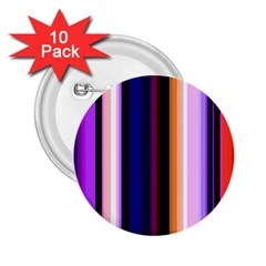 Fun Striped Background Design Pattern 2 25  Buttons (10 Pack)