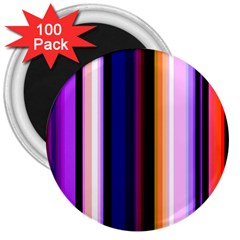 Fun Striped Background Design Pattern 3  Magnets (100 Pack)