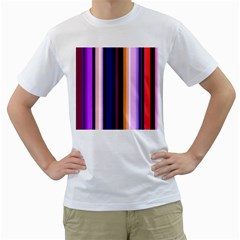 Fun Striped Background Design Pattern Men s T Shirt (white) (two Sided)