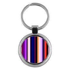 Fun Striped Background Design Pattern Key Chains (round)