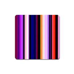 Fun Striped Background Design Pattern Square Magnet