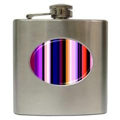 Fun Striped Background Design Pattern Hip Flask (6 Oz)