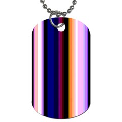 Fun Striped Background Design Pattern Dog Tag (two Sides)