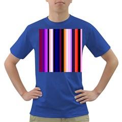 Fun Striped Background Design Pattern Dark T Shirt