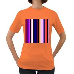 Fun Striped Background Design Pattern Women s Dark T Shirt