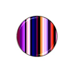 Fun Striped Background Design Pattern Hat Clip Ball Marker (10 Pack)