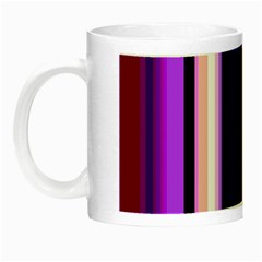 Fun Striped Background Design Pattern Night Luminous Mugs