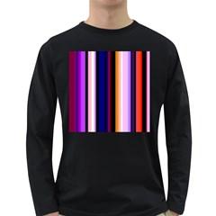Fun Striped Background Design Pattern Long Sleeve Dark T Shirts