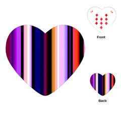Fun Striped Background Design Pattern Playing Cards (Heart)