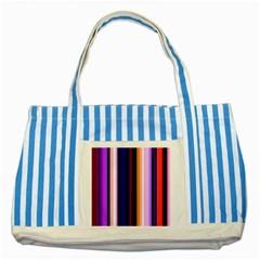 Fun Striped Background Design Pattern Striped Blue Tote Bag