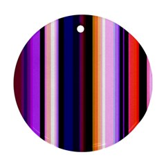 Fun Striped Background Design Pattern Round Ornament (two Sides)