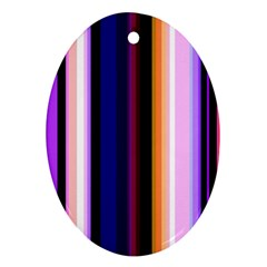 Fun Striped Background Design Pattern Oval Ornament (two Sides)