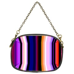 Fun Striped Background Design Pattern Chain Purses (two Sides)