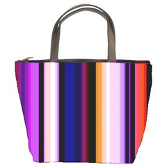 Fun Striped Background Design Pattern Bucket Bags