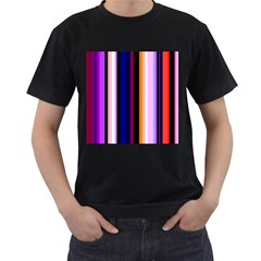 Fun Striped Background Design Pattern Men s T Shirt (black)
