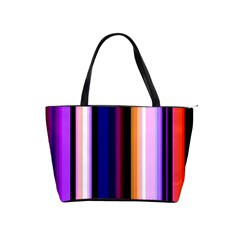 Fun Striped Background Design Pattern Shoulder Handbags