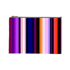 Fun Striped Background Design Pattern Cosmetic Bag (Large)