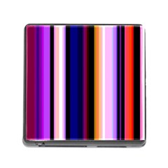 Fun Striped Background Design Pattern Memory Card Reader (square)