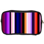 Fun Striped Background Design Pattern Toiletries Bags 2-Side Front