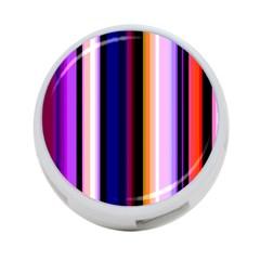 Fun Striped Background Design Pattern 4-Port USB Hub (Two Sides)