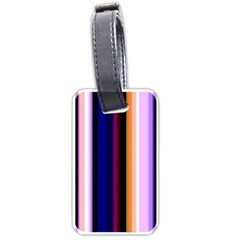 Fun Striped Background Design Pattern Luggage Tags (one Side)