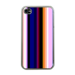 Fun Striped Background Design Pattern Apple Iphone 4 Case (clear)
