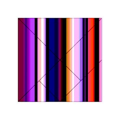 Fun Striped Background Design Pattern Acrylic Tangram Puzzle (4  X 4 )