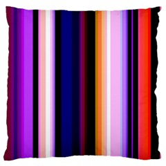 Fun Striped Background Design Pattern Large Cushion Case (Two Sides)