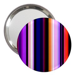 Fun Striped Background Design Pattern 3  Handbag Mirrors