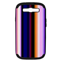 Fun Striped Background Design Pattern Samsung Galaxy S Iii Hardshell Case (pc+silicone)