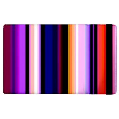 Fun Striped Background Design Pattern Apple Ipad 2 Flip Case