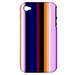 Fun Striped Background Design Pattern Apple Iphone 4/4s Hardshell Case (pc+silicone)
