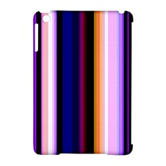 Fun Striped Background Design Pattern Apple Ipad Mini Hardshell Case (compatible With Smart Cover)