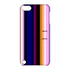 Fun Striped Background Design Pattern Apple Ipod Touch 5 Hardshell Case With Stand
