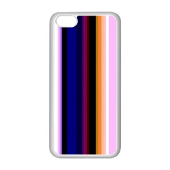 Fun Striped Background Design Pattern Apple Iphone 5c Seamless Case (white)