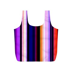 Fun Striped Background Design Pattern Full Print Recycle Bags (s)