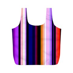 Fun Striped Background Design Pattern Full Print Recycle Bags (m)