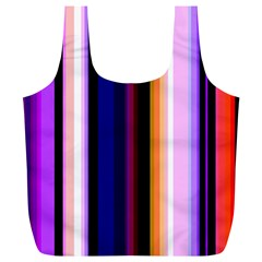 Fun Striped Background Design Pattern Full Print Recycle Bags (l)