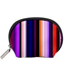 Fun Striped Background Design Pattern Accessory Pouches (small)