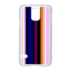 Fun Striped Background Design Pattern Samsung Galaxy S5 Case (white)