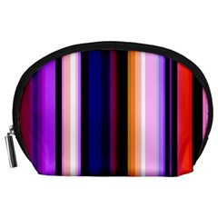 Fun Striped Background Design Pattern Accessory Pouches (large)