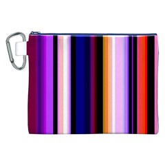 Fun Striped Background Design Pattern Canvas Cosmetic Bag (xxl)
