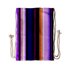 Fun Striped Background Design Pattern Drawstring Bag (small)