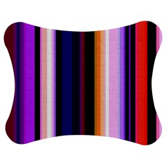 Fun Striped Background Design Pattern Jigsaw Puzzle Photo Stand (bow)