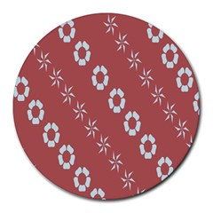 Abstract Pattern Background Wallpaper In Pastel Shapes Round Mousepads