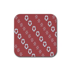 Abstract Pattern Background Wallpaper In Pastel Shapes Rubber Coaster (square)