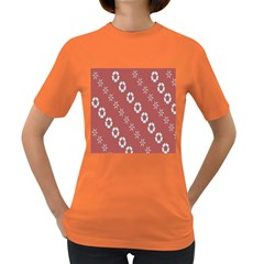 Abstract Pattern Background Wallpaper In Pastel Shapes Women s Dark T-Shirt