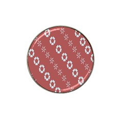 Abstract Pattern Background Wallpaper In Pastel Shapes Hat Clip Ball Marker